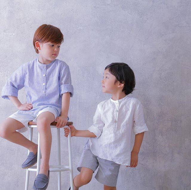 Amaia Kids ♥The gentleman to be…♡トップス: Victor Shirtパンツ: Gull Shorts https://bonitatokyo.com/#amaiakids #アマイアキッズ  #アマイアキッズ専門店 #bonitatokyo #ボニータトウキョウ #ボーイズ #ジョージ王子 #ルイ王子 #キャサリン妃 #息子 #むすこーで #出産祝い #出産祝いギフト #ハンサムコーデ #handsomes #男の子ベビー #男の子ママ #男の子コーデ #ママライフ #mamagirl #millymilly #studiocoffret #スタジオコフレ #男の子七五三 #キッズフォトスタジオ