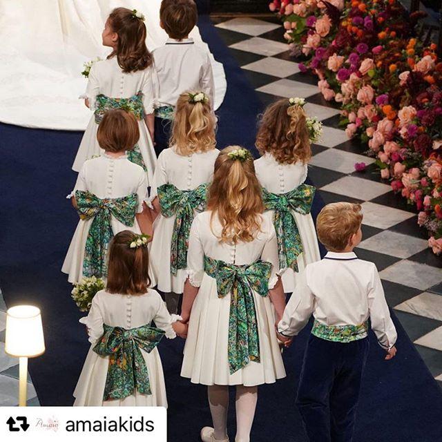 Amaia Kids ♥2018年にAmaia Kids (アマイアキッズ) が手掛けたロイヤルウエディングでの子どもたちのご衣装